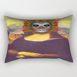 Cyborg Mona Lisa Rectangular Pillow