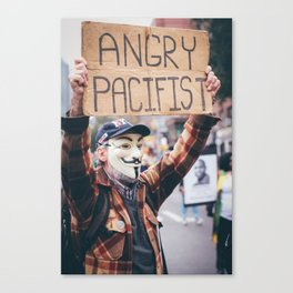 Angry. Canvas Print