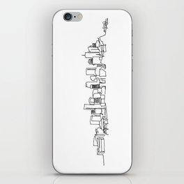 Denver Skyline Drawing iPhone Skin