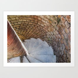 A Downward Spiral in Time Art Print