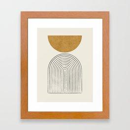 Arch Balance Gold Framed Art Print