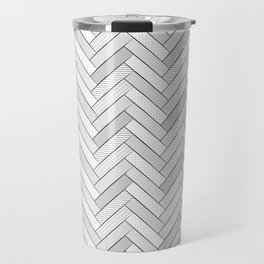 black and white geometric pattern, graphic design Travel Mug