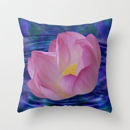 A lotus flowers dream Throw Pillow