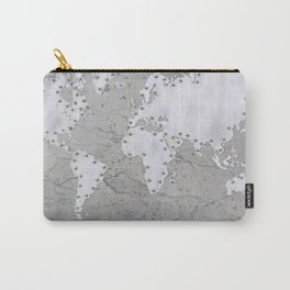 Riveted metal - Organic World Map Series Carry-All Pouch