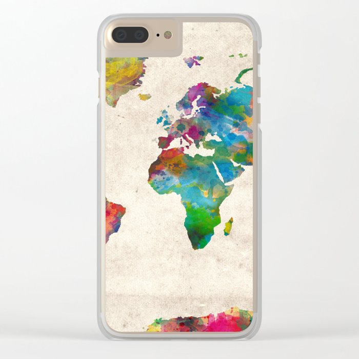 world map Clear iPhone Case