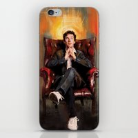 benedict iPhone & iPod Skins featuring Sitting Benedict by Wisesnail
