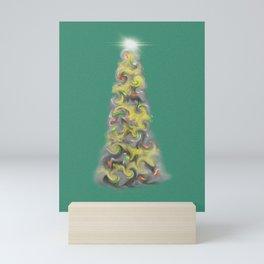 Happy Christmas Tree Mini Art Print