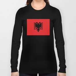 Flag of Albania - Authentic version Long Sleeve T-shirt