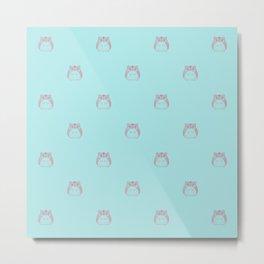 Cute Hamster Pattern Illustration Metal Print