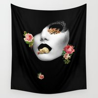 noir Wall Tapestries featuring : noir : by Bauerhorst