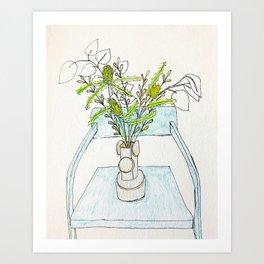 Living Room Flowers Art Print