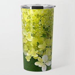 Elegant Chartreuse Green Limelight Hydrangea Macro Travel Mug