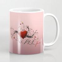 pretty little liars Mugs featuring Pretty Little Liars fan heart by MaNia Creations