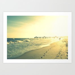 Couple on the Beach Art Print