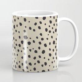 Spots Animal Print Beige Coffee Mug