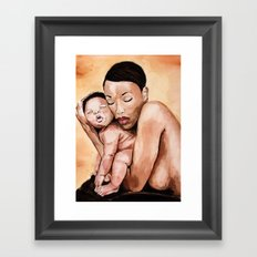 Mother and baby. Framed Art Print