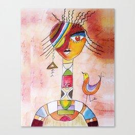 Abstract Woman Canvas Print