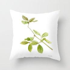 A branch of the tree Psidium fortium Throw Pillow