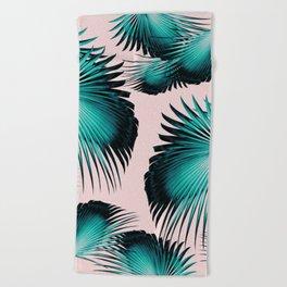 Fan Palm Leaves Paradise #4 #tropical #decor #art #society6 Beach Towel