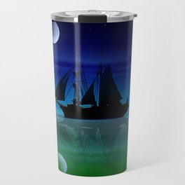 Sailing On A Sea of Green. Travel Mug