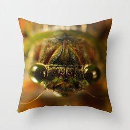 Cicada Chaos Throw Pillow