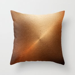 Copper Foil Texture Throw Pillow