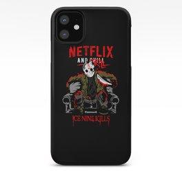 Jason voorhees netflix and chill kill ice nine kills halloween iPhone Case