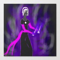 homestuck Canvas Prints featuring Grimdark Rose by Paula Urruti