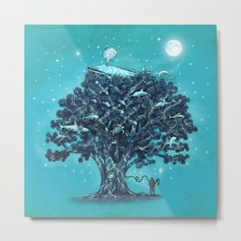 Deep Tree Diving  Metal Print