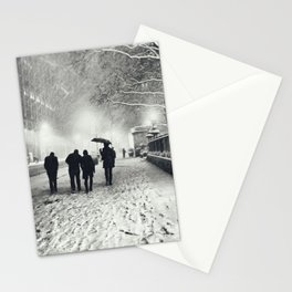 New York City Snow Bryant Park Stationery Cards