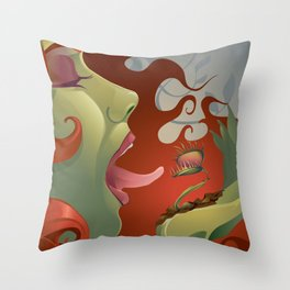 IVY's KISS Throw Pillow