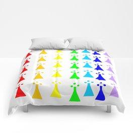 Hermine -Ermine-armino 13 Colorfull. Rainbow! Comforters