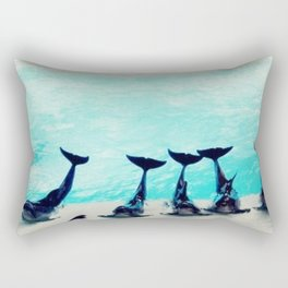 Spectacular Dolphin Show Rectangular Pillow