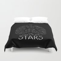 the fault Duvet Covers featuring The Fault in Our Stars by Call me Calliope