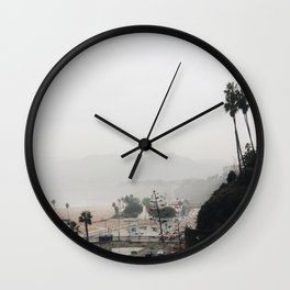 Santa Monica in Grey Wall Clock