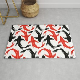Koi Fish Swimming Rug