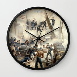 Civil War Naval Battle Wall Clock