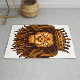 Lion with Crown Rug