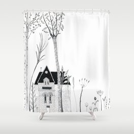 Little House in Forrest Shower Curtain