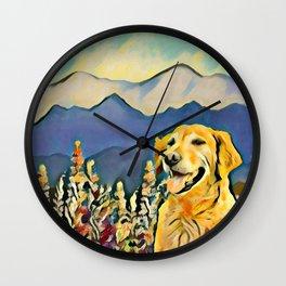 Mountain Dog 2 Wall Clock