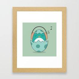 Kawaii Cute Music Loving Bird Framed Art Print