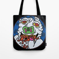 keith haring Tote Bags featuring Keith Haring Pig 1988  by cvrcak