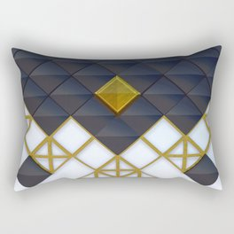 Light Dark and Gold 02 Rectangular Pillow