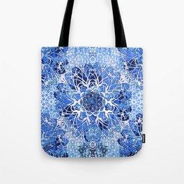 Sapphire Crochet Mandala Tote Bag