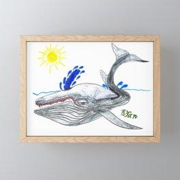 Fin Whale Framed Mini Art Print