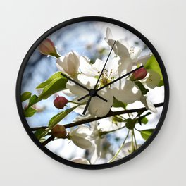 Crabapple FLowers 06 Wall Clock