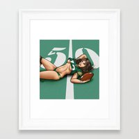 packers Framed Art Prints featuring Packers pinup by Flocco