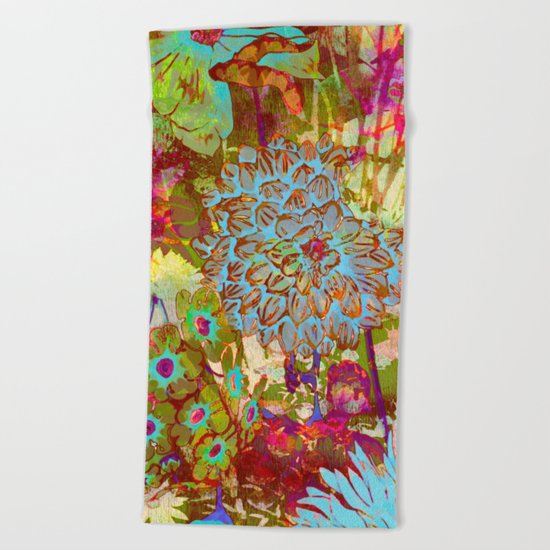 from the garden Beach Towel