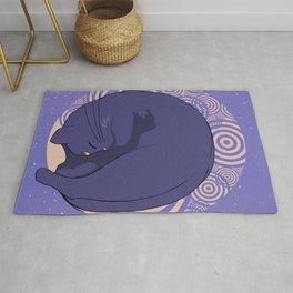 Sleeping MoonCat Rug