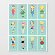 Calendar Girls Canvas Print